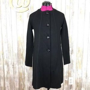 J. Crew Jacket Black Coat Wool Knit XS